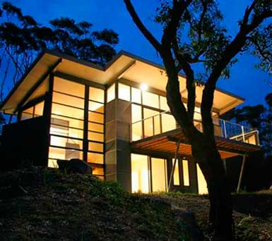 Apollo Bay accommodation- architectural Glass House image